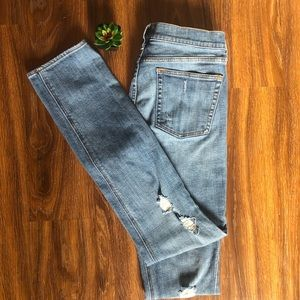 J. Crew Factory Distressed Straight Jeans Size 28